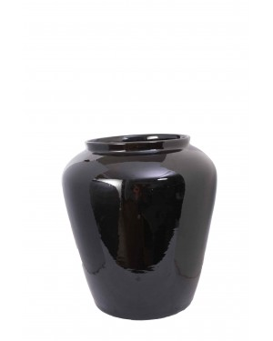 Kalakriti Handmade big size Flower vase with Light Black Color