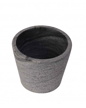 Kalakriti Peculiar Stoneage India Black Granite Mortar and Pestle