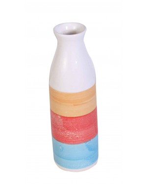 Kalakriti Clay vase for Multi color round