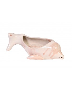 Kalakriti Cream Color Iridescent Mermaid Tail Soap Dish