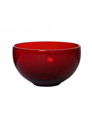 Kalakriti-Aqua-Round-Large-Red--Glass-Bowl
