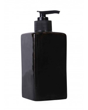 Kalakriti 300 Ml Polyresin Counter Top Liquid Soap Dispenser in Black