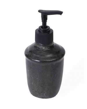 Kalakriti 300 Ml Polyresin Counter Top Liquid Soap Dispenser in Black oval