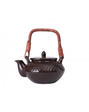 Brown Beautifully Dotted Ceramic Kettle Tea Pot