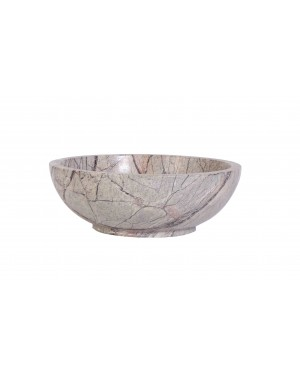 Kalakriti Glenfield Deep Wooden Dough Bowl with Handles Decorative