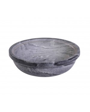 Kalakriti Wide Black Marble Stone Mortar And Pestle