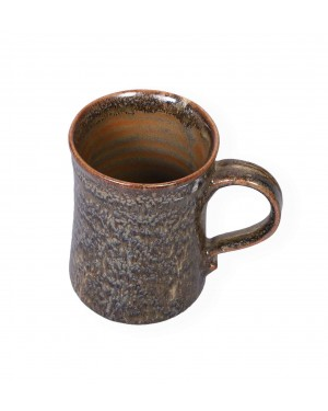 Kalakriti Ceramic beer mug in browm cheeta finish