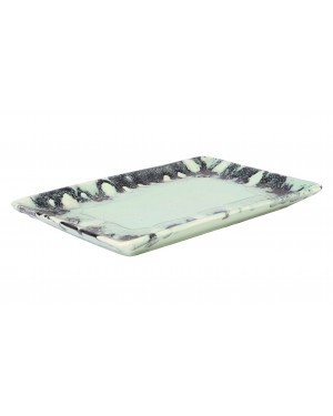 Kalakriti Rectangle Green ceramic drip tray